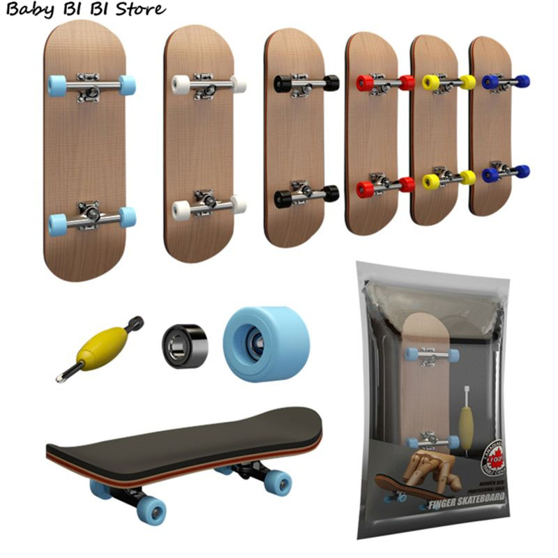 Finger SkateBoard Wooden Fingerboard Toy Professio...
