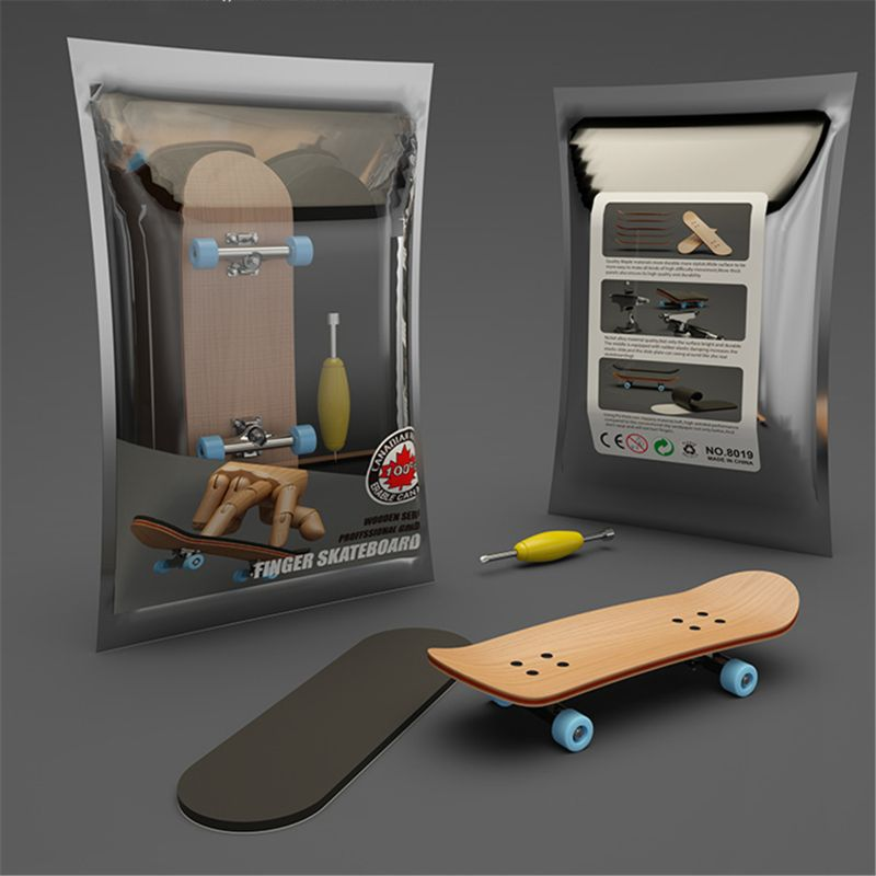 Finger SkateBoard Wooden Fingerboard Toy Professional Stents Fingers Skate Set Novelty Children Christmas Gift