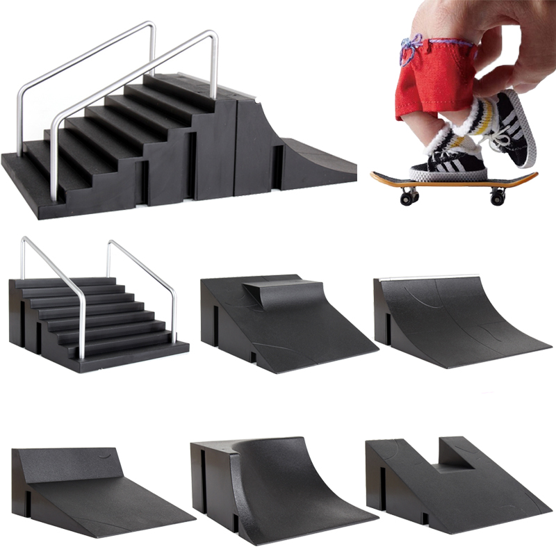 Children Finger Skateboards Skate Toy Skate Park R...