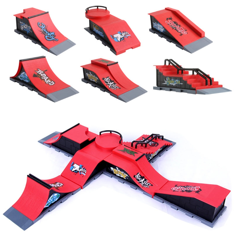 Skate Park Ramp Parts for Tech Deck Fingerboard Fi...